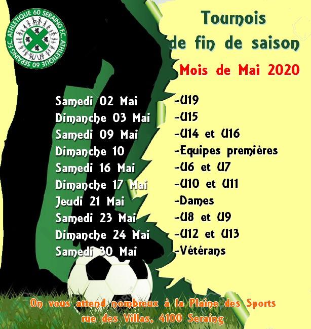 Tournois  fin de saison 2020